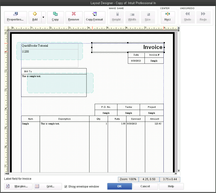 how to change estimate template in quickbooks